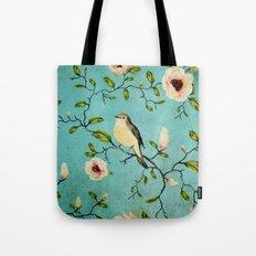Grunge Floral Pattern 06 Tote Bag
