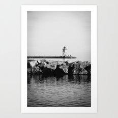 The Lighthouse 4 Art Print