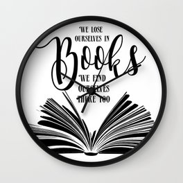 Book Quotes Wall Clock