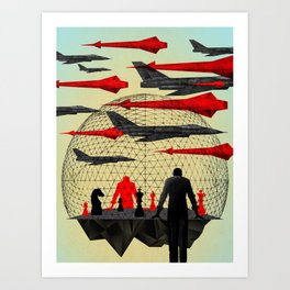 """""""Let's Play War"""" by Brian Stauffer for Nautilus Art Print"""