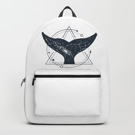 Tail Of A Whale. Geometric Style Backpack