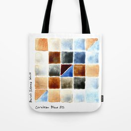 Color Chart - Burnt Sienna (W&N) and Cerulean Blue (DS) Tote Bag