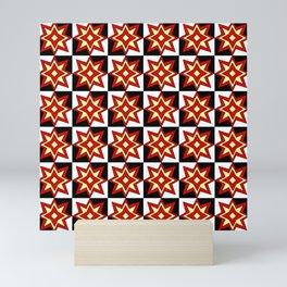 symmetric patterns 95- red star Mini Art Print