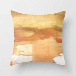 Peru colored watercolor design Throw Pillow