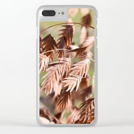 Closeup of brown (dried) plants outdoor Clear iPhone Case