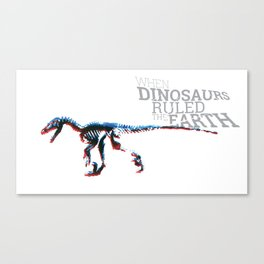 When Dinosaurs Ruled The Earth - Deinonichus Canvas Print
