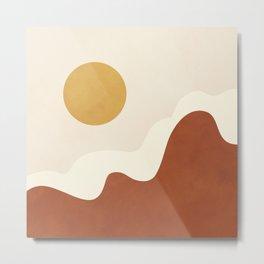 abstract minimal 40 Metal Print