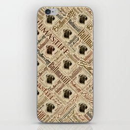 Bullmastiff Word Art iPhone Skin