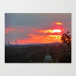 July Sunset in Portland, Maine (1) Canvas Print