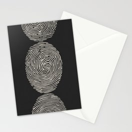 Finger Printed Stationery Cards