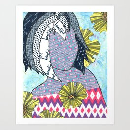 Never Be Anyone But Yourself (You Are Beauiful) Art Print
