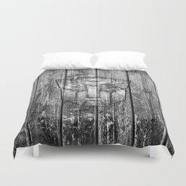 Autobot Monochrome Wood Texture Duvet Cover