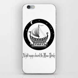 Night voyage aboard the Moon-Drake iPhone Skin
