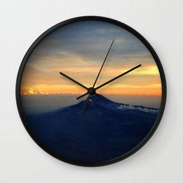 Izta and Popo Wall Clock