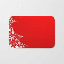 Red Christmas Bath Mat