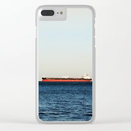 Cargo Ship Seascape Clear iPhone Case