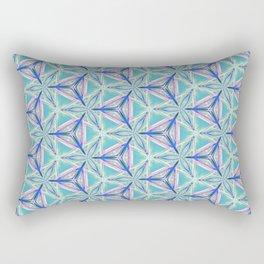 Peacock Pattern Rectangular Pillow