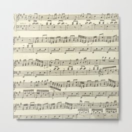 Lovely music note print Metal Print