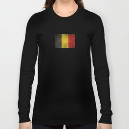 Old and Worn Distressed Vintage Flag of Belgium Long Sleeve T-shirt