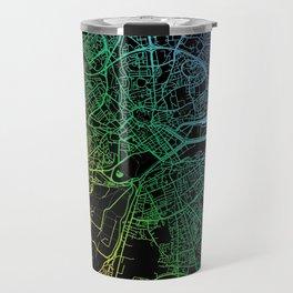 Caen, France, City, Map, Rainbow, Map, Art, Print Travel Mug