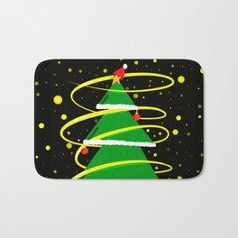 Beautiful Christmas tree Bath Mat