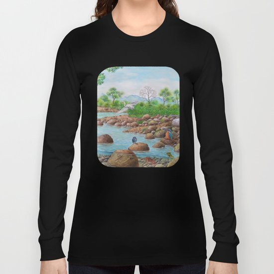 A Day of Forest(7). (the river ecosystem) Long Sleeve T-shirt