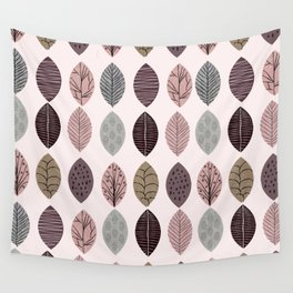Nature Inspired Leaves Wall Tapestry