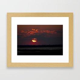Fiery Sunset Framed Art Print