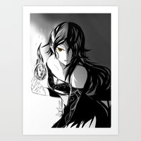 roosterteeth Art Prints featuring [RWBY] Cinder Fall by AikiYun