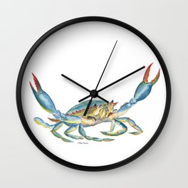 Colorful Blue Crab Wall Clock