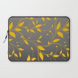FLOWERY VINES | grey yellow Laptop Sleeve