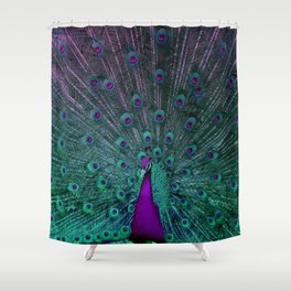 BLOOMING PEACOCK Shower Curtain