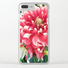 Dazzling Dahlia Clear iPhone Case