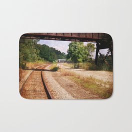 Vintage Railroad Tracks Bath Mat