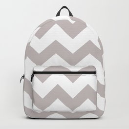 LIGHT GREY AND WHITE CHEVRON PATTERN  Backpack