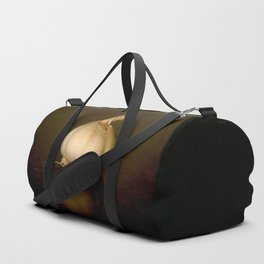 Garlic on Dark Background #decor #society6 #buyart Duffle Bag
