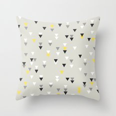 little triangles yellow Throw Pillow