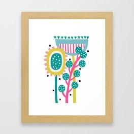 Retro Floral Canvas Print | Abstract Artwork Fine Art Framed Art Print