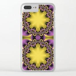 Golden flower heart Clear iPhone Case