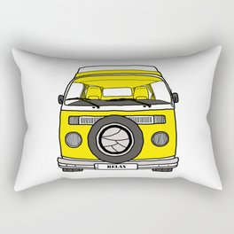 Retro camper caravan Rectangular Pillow