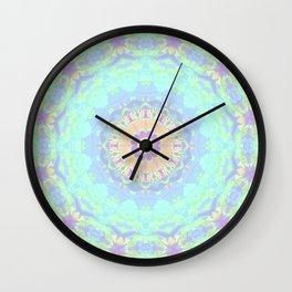 Rainbow Triangles Kaleidoscope Wall Clock