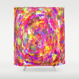Watercolor and digital  Shower Curtain