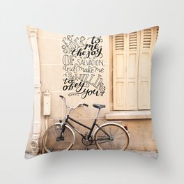The Joy of Your Salvation  |  Psalm 51:12 Throw Pillow