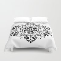 snowflake Duvet Covers featuring Snowflake by BWartwork