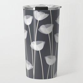 White Poppies Travel Mug