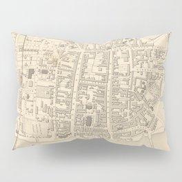 Vintage Map of Perth Scotland (1851) Pillow Sham