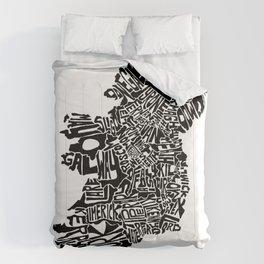 Typographic Ireland Comforters