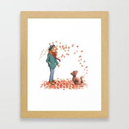 Just a two of us (autumn) Framed Art Print
