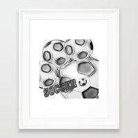 soccer Framed Art Prints featuring Soccer  by LoRo  Art & Pictures