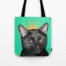 Radiant Sun Cat Tote Bag